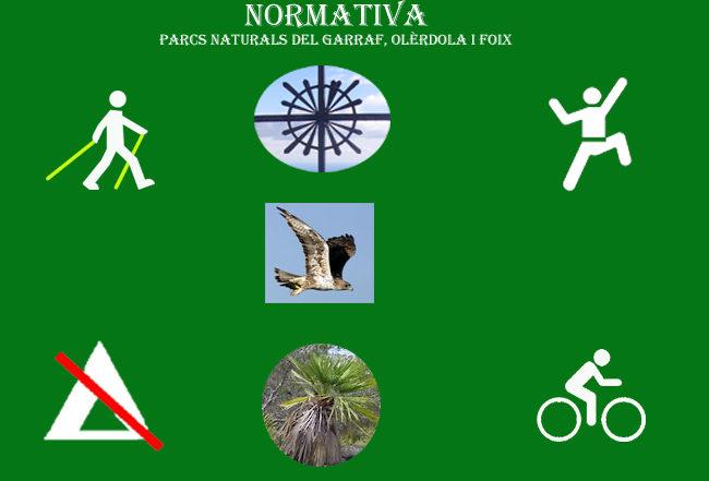 Normativa-parcs-naturals-garraf-olèrdola-foix-Catalonia-Adventures